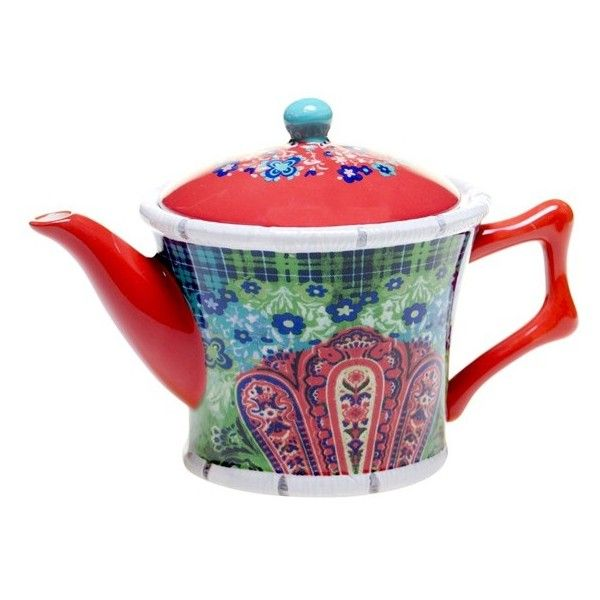 Tracy Porter For Poetic Wanderlust 'Folklore Holiday' Teapot (127.500 COP) ❤ liked on Polyvore featuring home, kitchen & dining, teapots, blue, blue tea pot and blue teapot