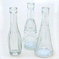 12 Stück Deko-Glasflaschen - Vasen H 12 cm