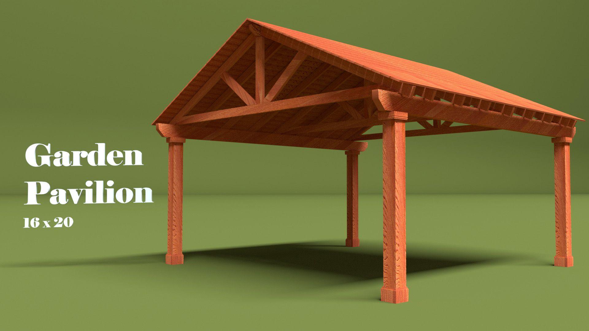 16×20 Western Red Cedar Pavilion in 2020 Pavilion
