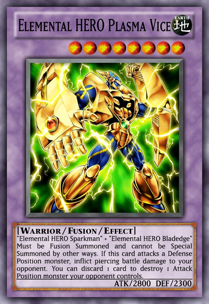 Elemental HERO Extra Deck Monsters Yugioh, Monster cards