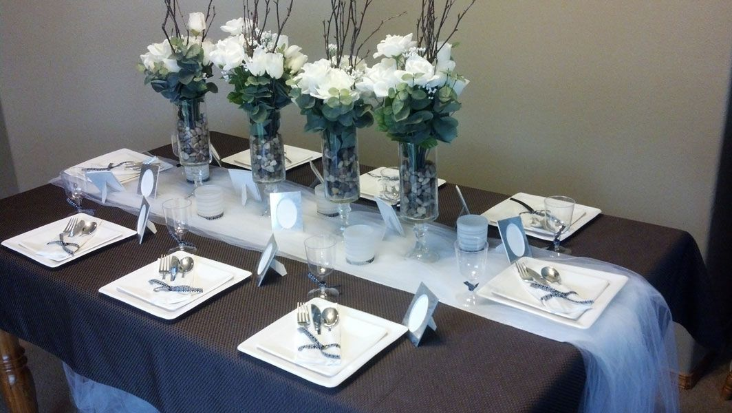 Charming Table Setting Ideas For Dinner Party Part - 7: Simple Elegant Centerpieces Dinner Party | Elegant Dollar Store Dinner Party