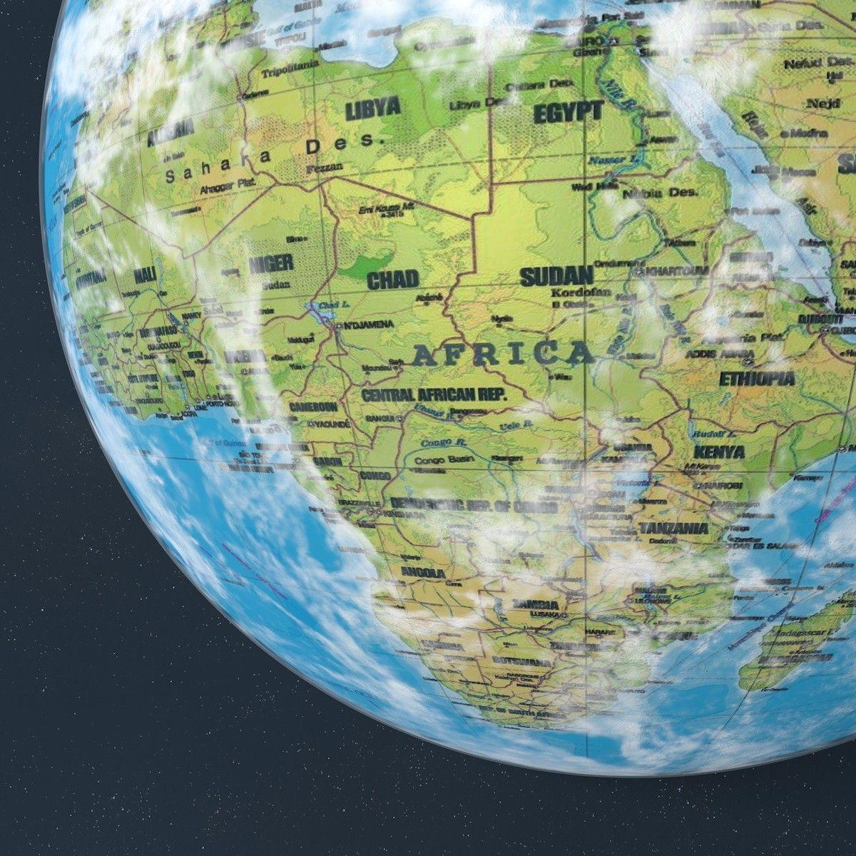 Earths Map%0A  D Model Planet Earth Moon Globe   D Model