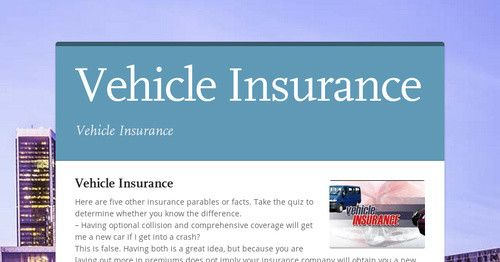 Vehicle Insurance Premiums Can Be Paid Late Because There Is A