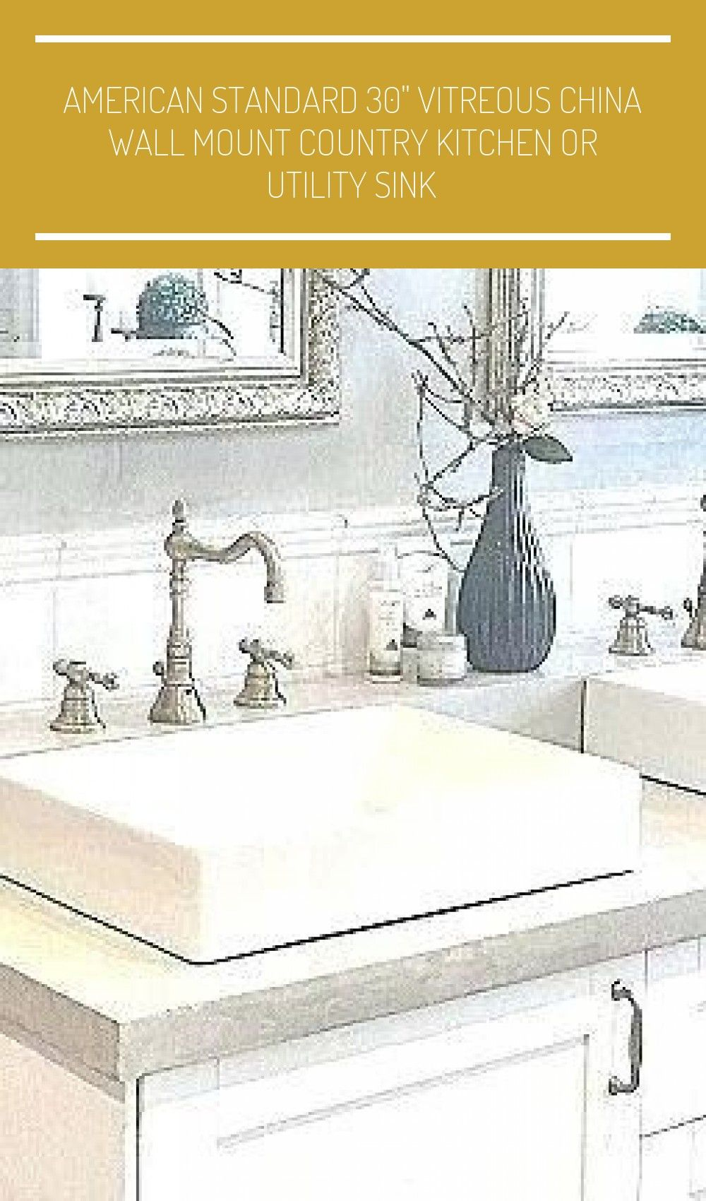 American Standard 30 In 2020 With Images Farmhouse Sink Faucet
