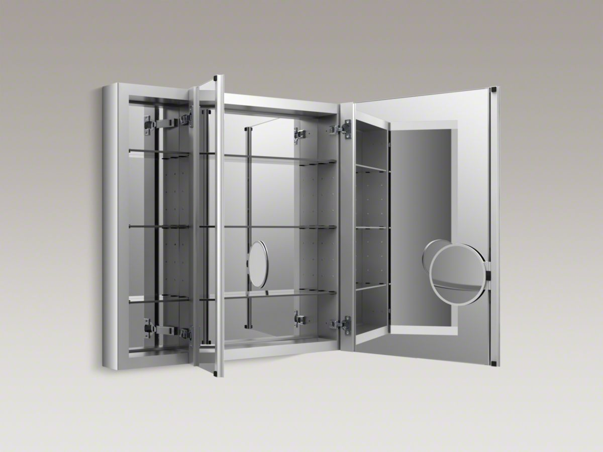 Kohler k verdera medicine cabinet with triple mirrored