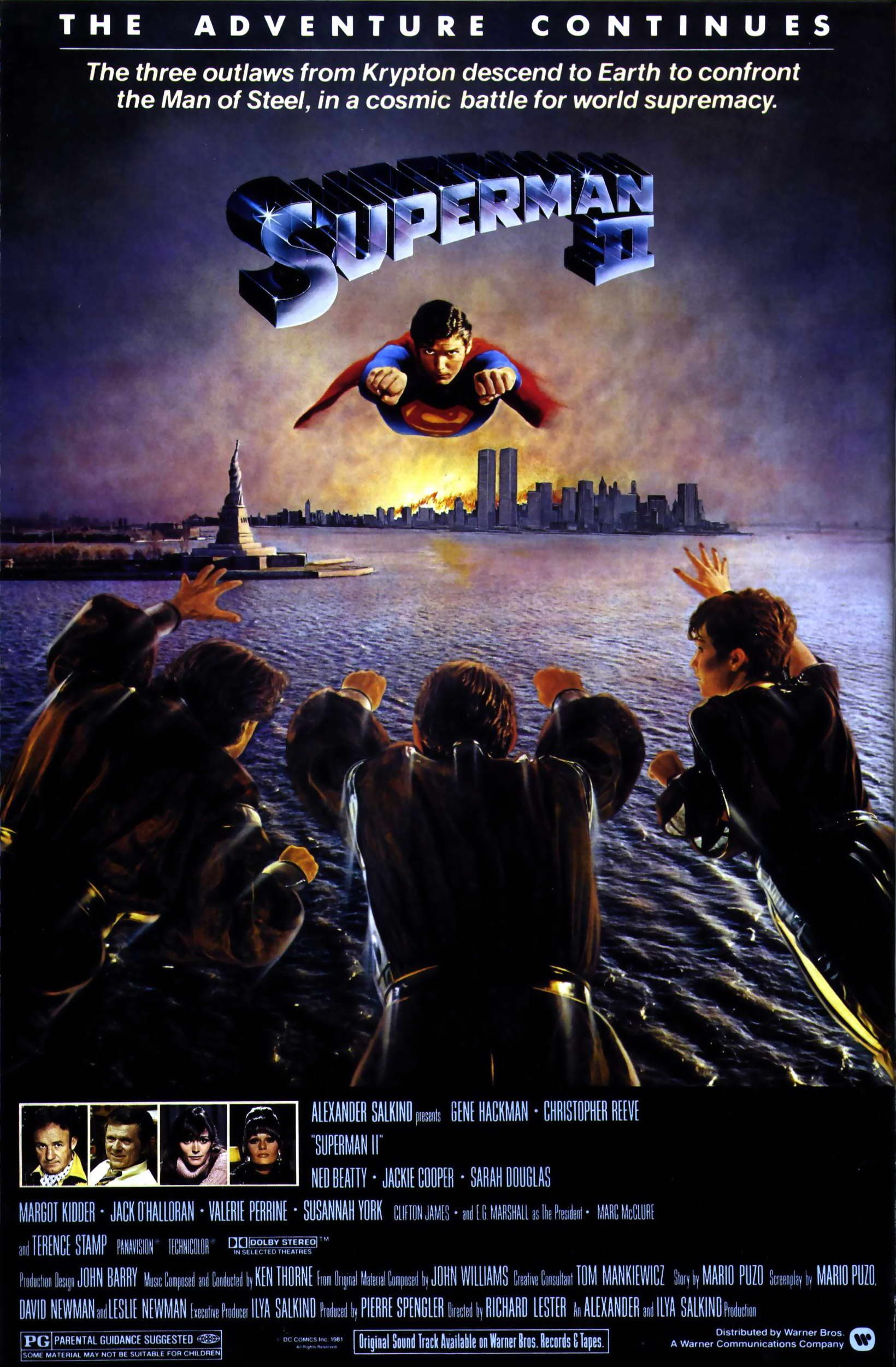Image result for superman 2 original movie poster
