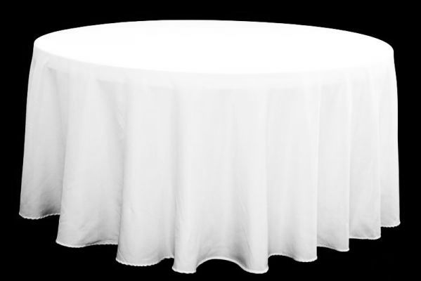 Polyester 120 Round Tablecloth White Round Tablecloth 120