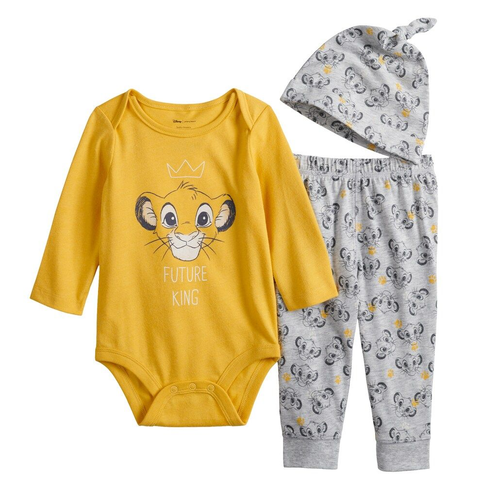 George Disney THE LION KING SIMBA Baby Boys Outfit Set Clothes 3-6 Months New!