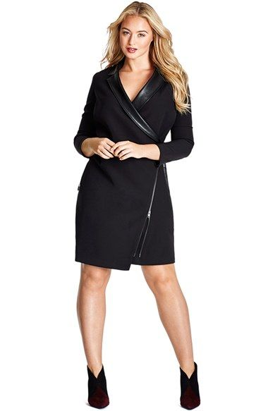 Mynt 1792 Tuxedo Wrap Dress (Plus Size) available at #Nordstrom ...