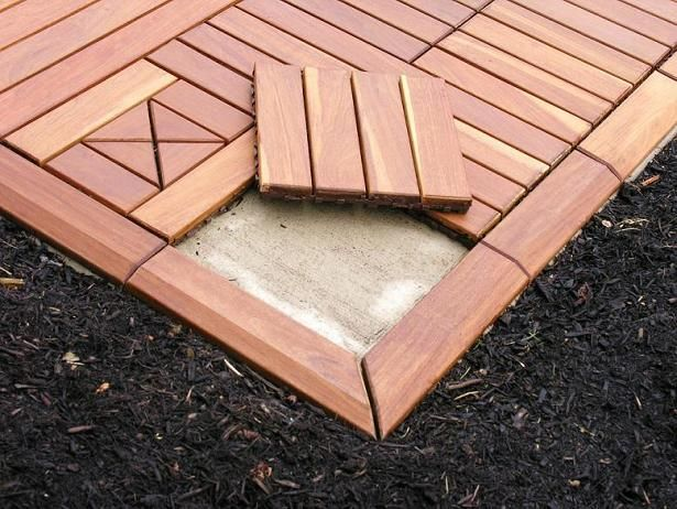 Restore your concrete patio with an overlay of modular for Garden decking squares