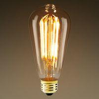 Led Edison Bulb 5 Watt 380 Lumens 40 Watt Equal Warm Tone 2400 Kelvin Amber Tinted 15 000 Life Vintage Light Bulbs Edison Light Bulbs Light Bulb