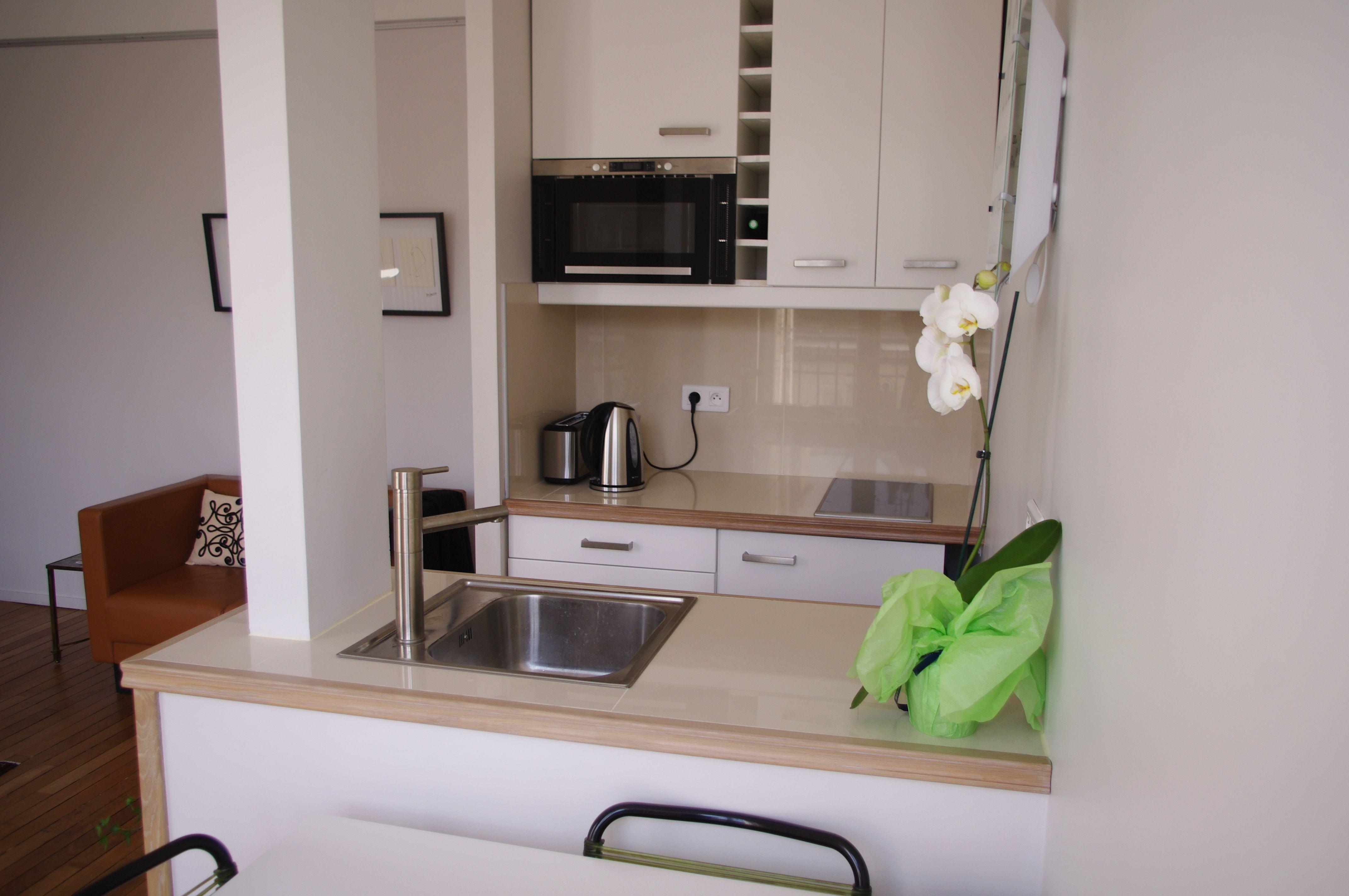 Meuble Four Plaque Induction appartement meublé à louer à paris avec une cuisi