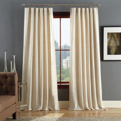 Reed Rod Pocket Window Curtain Panels Small Basement Remodel