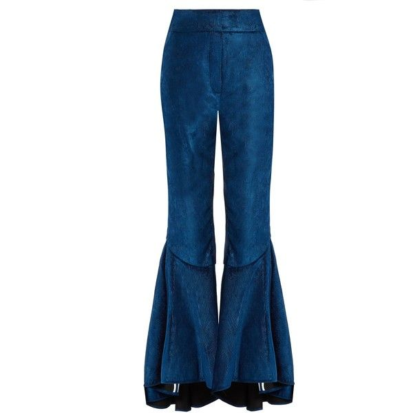 Hysteria ruffled-cuff cropped corduroy trousers Ellery cLkfqp