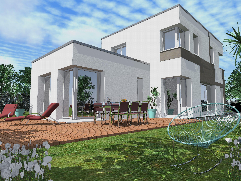 Modèle Transparence Style Archi de 125m² avec 4 chambres et un toit terrasse | Plan maison 120m2 ...