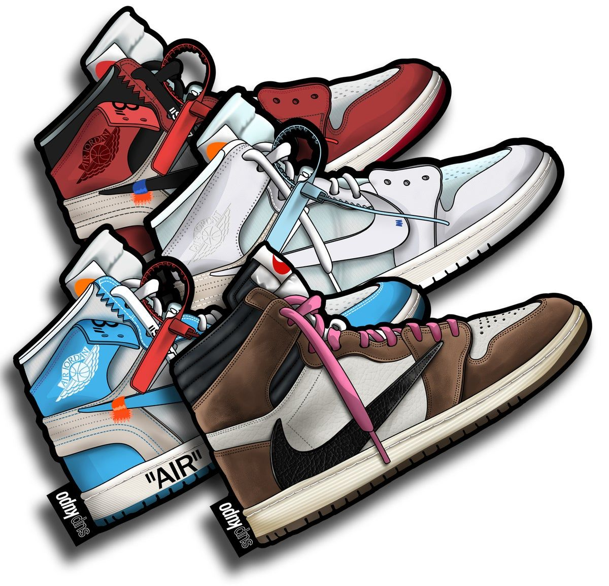 Air Jordan 1 Collection en 2020 Chaussure, Stikers