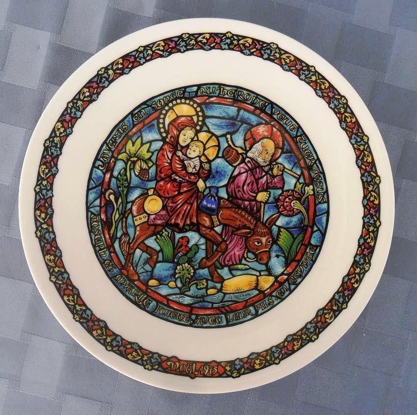 Plato de porcelana la huida a egipto de henri d arceau for Platos porcelana