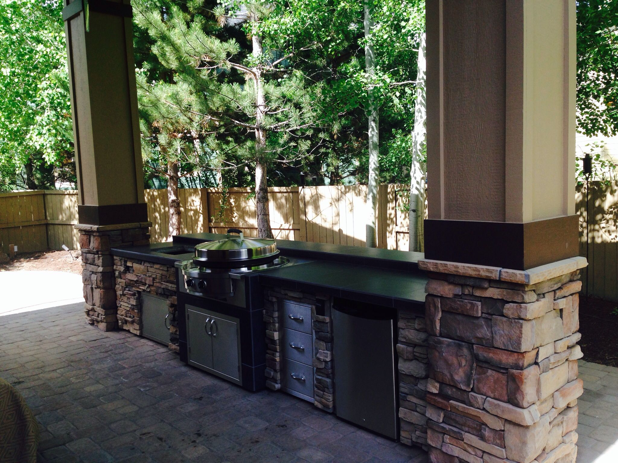 EVO grilling at the very best! Custom built by Sunset Outdoor Living, LLC.  503-831-4677