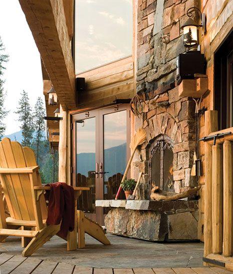 Indoor/Outdoor fireplace...enjoy.