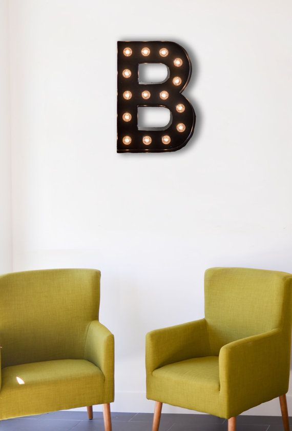 Vintage Inspired Marquee Light Letter B by SaddleShoeSigns on Etsy ...