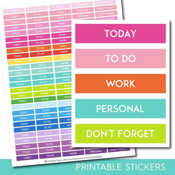 To do stickers, Today stickers, Today planner stickers, Today printable stickers Work stickers Personal stickers Dont forget sticker STI-239