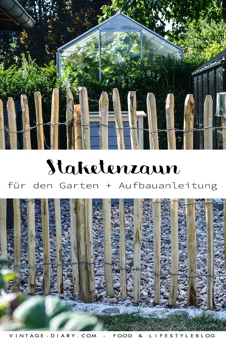 Photo of Staketenzaun aus Kastanie für den Nutzgarten aufbauen – vint…
