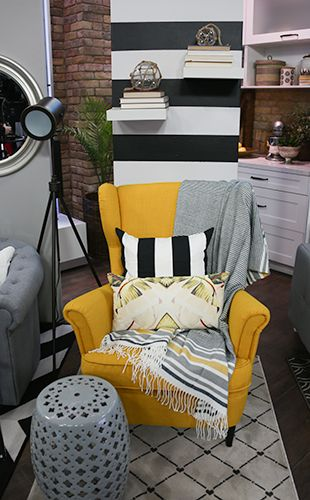 Inspired Style Yellow Chair Living Room Inspiration