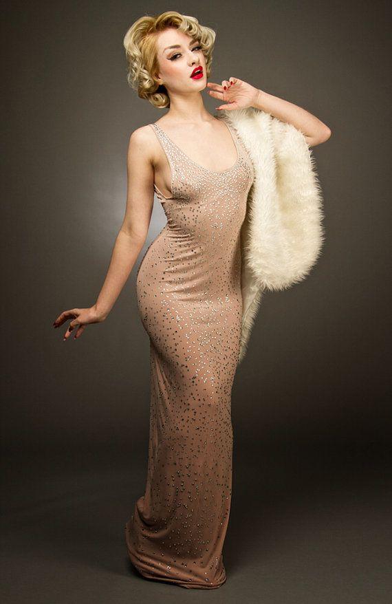 Marilyn Monroe Happy Birthday Dress Costume on Etsy, $247.30 | Just ...