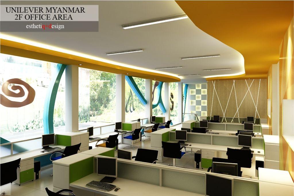 Desain Interior Ruang Kerja Unilever Myanmar L Design By Esthetiq