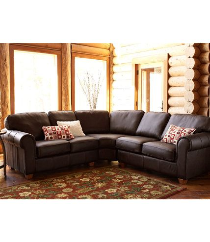Ultralight Comfort Sectional  Three Piece Set Leather  Indoor Furniture at  L L Bean. Ultralight Comfort Sectional  Three Piece Set Leather  Indoor
