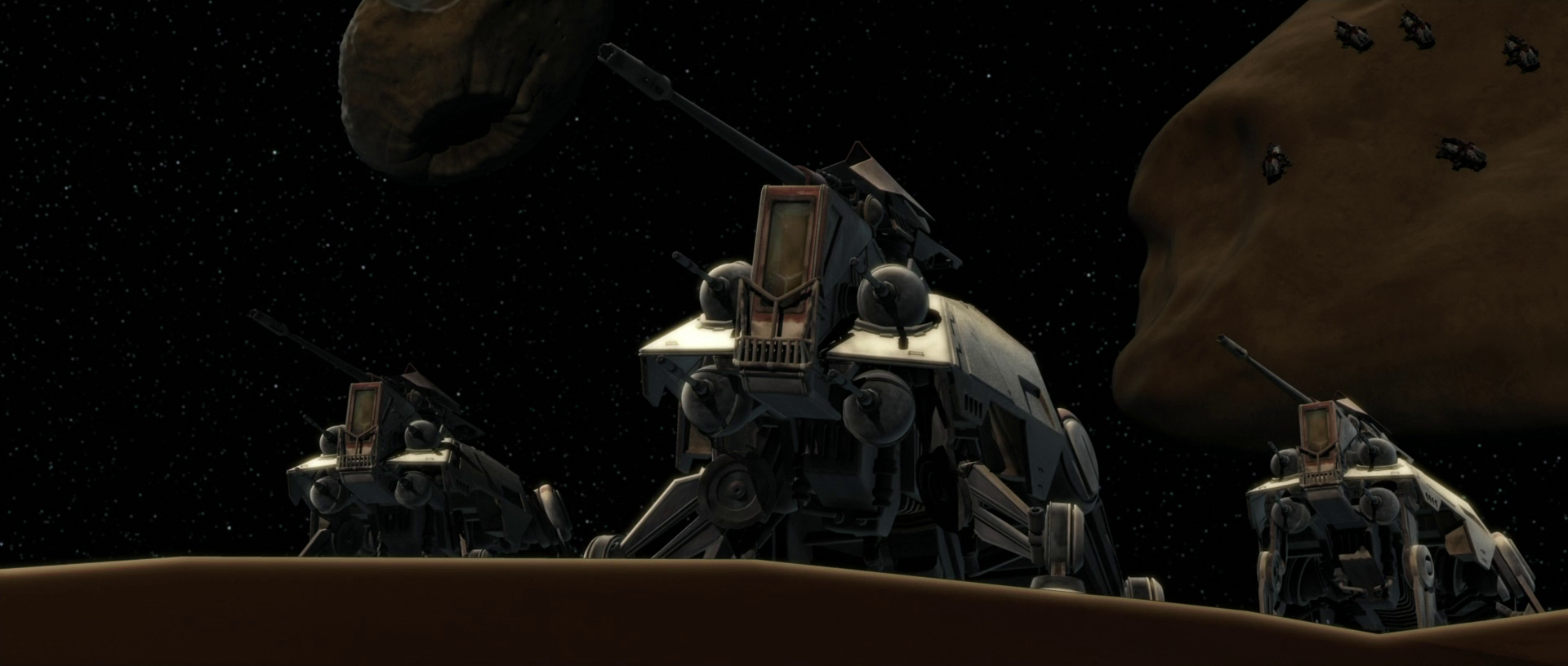 star wars AT TE missile du canon principal