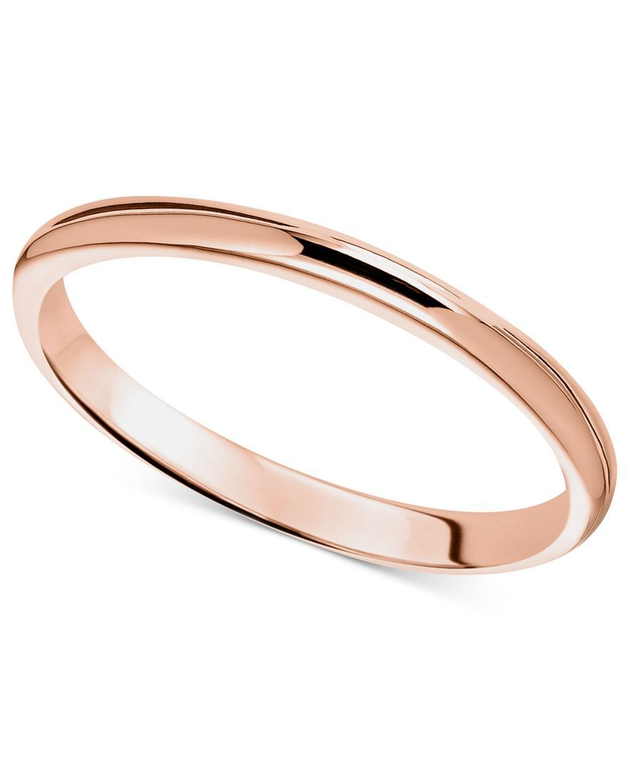 14k Rose Gold Ring 2mm Wedding Band Gold Bands Rose And Gold Rings