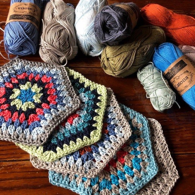 Free Crochet Pattern: Painted Hexagons Blanket (With ...