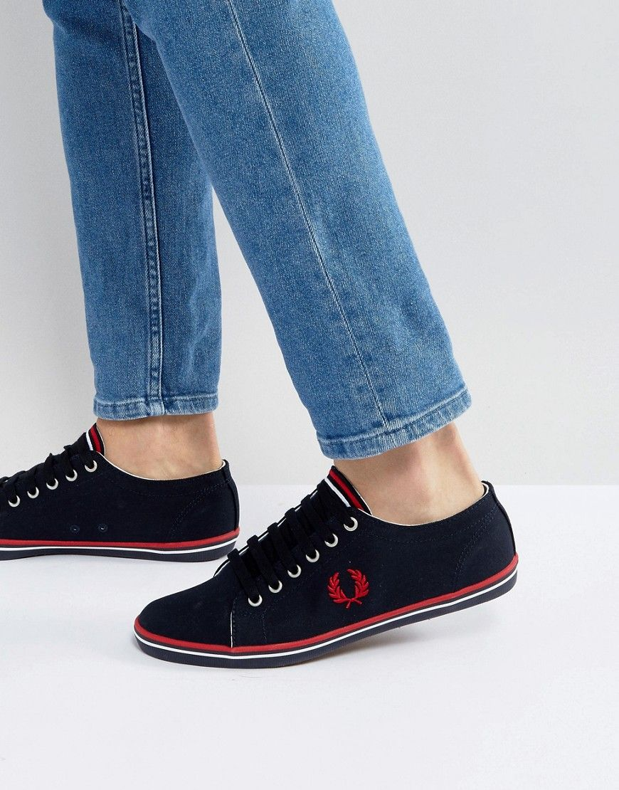 Fred Perry Kingston Twill Sneakers Navy - Navy c7adc71f568