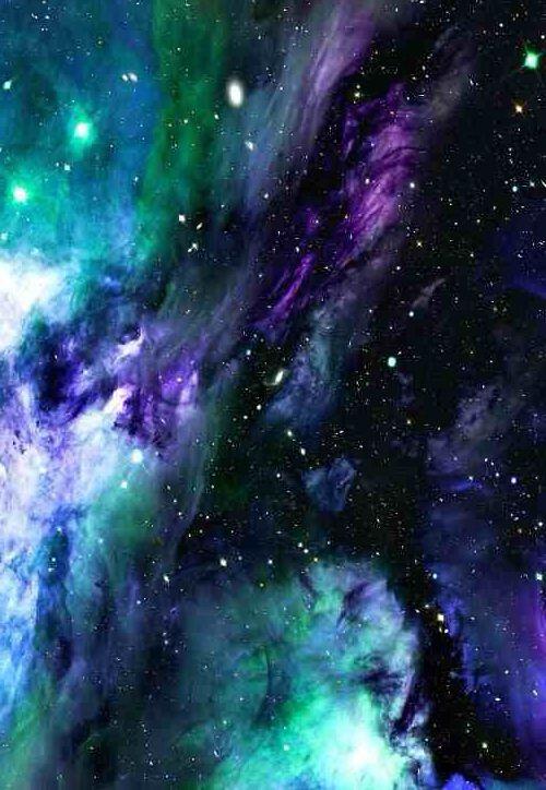 Purple Blue Green Galaxy Nebula Green Galaxy Nebula Galaxy Art
