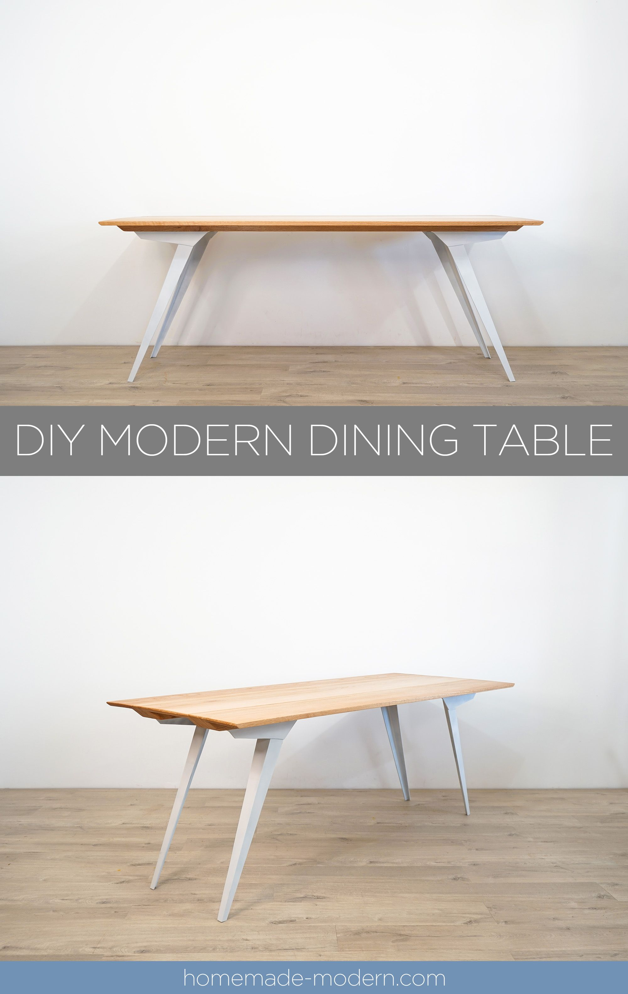 This Diy Modern Dining Table Features Custom Steel Table Legs That