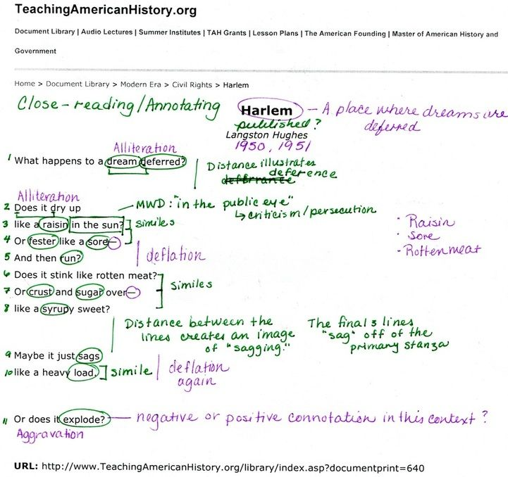 pictures of annotated texts Reading - Students Teaching English - continuity plan template