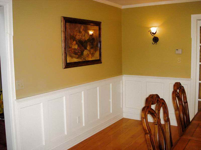 walls with wainscoting raised panel wainscoting with yellow wall