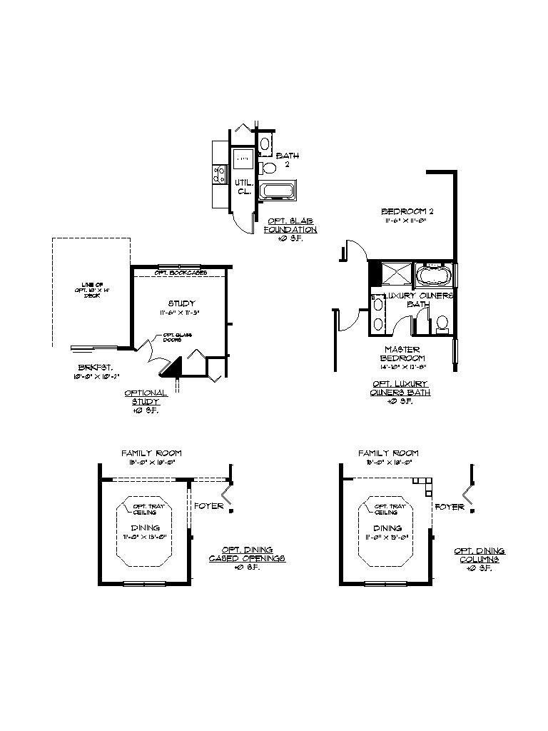 The Providence floor plan by Garman Builders, optional