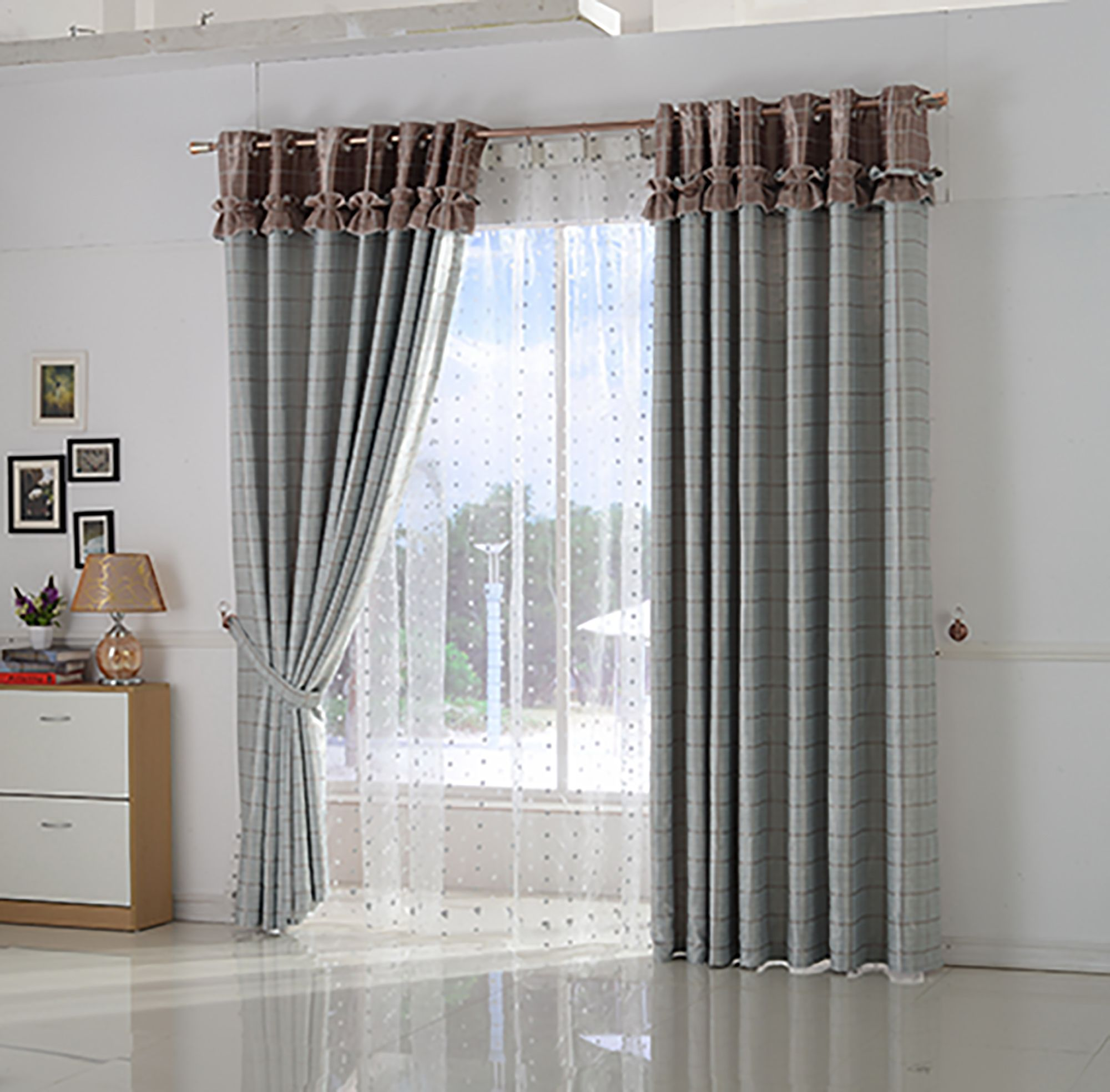 Design Curtain Pole Matching Drapery Style For Your House Decorative Drapery Styles Yellow Living Room Curtains