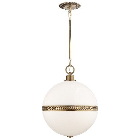 Hendricks Large Globe Pendant in Natural Brass - Ceiling Fixtures - Lighting  - Products - Ralph - Hendricks Large Globe Pendant In Natural Brass - Ceiling Fixtures