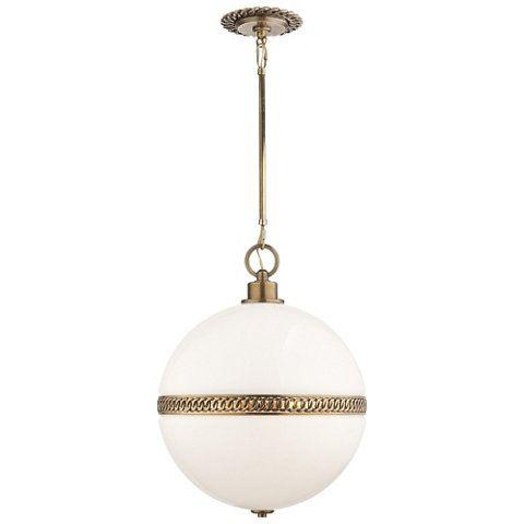 Hendricks Large Globe Pendant In Natural Br Ceiling Fixtures Lighting Products Ralph Lauren Home Ralphlaurenhome