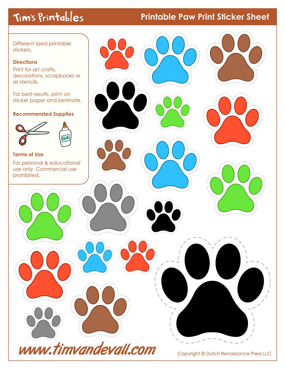 Www.timvandevall.com Wp Content Uploads Paw Print Stickers