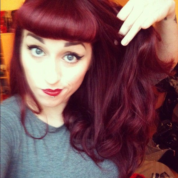 photo coloration cheveux rouge framboise 4jpg 612612 coiffure pinterest - Coloration Cheveux Framboise