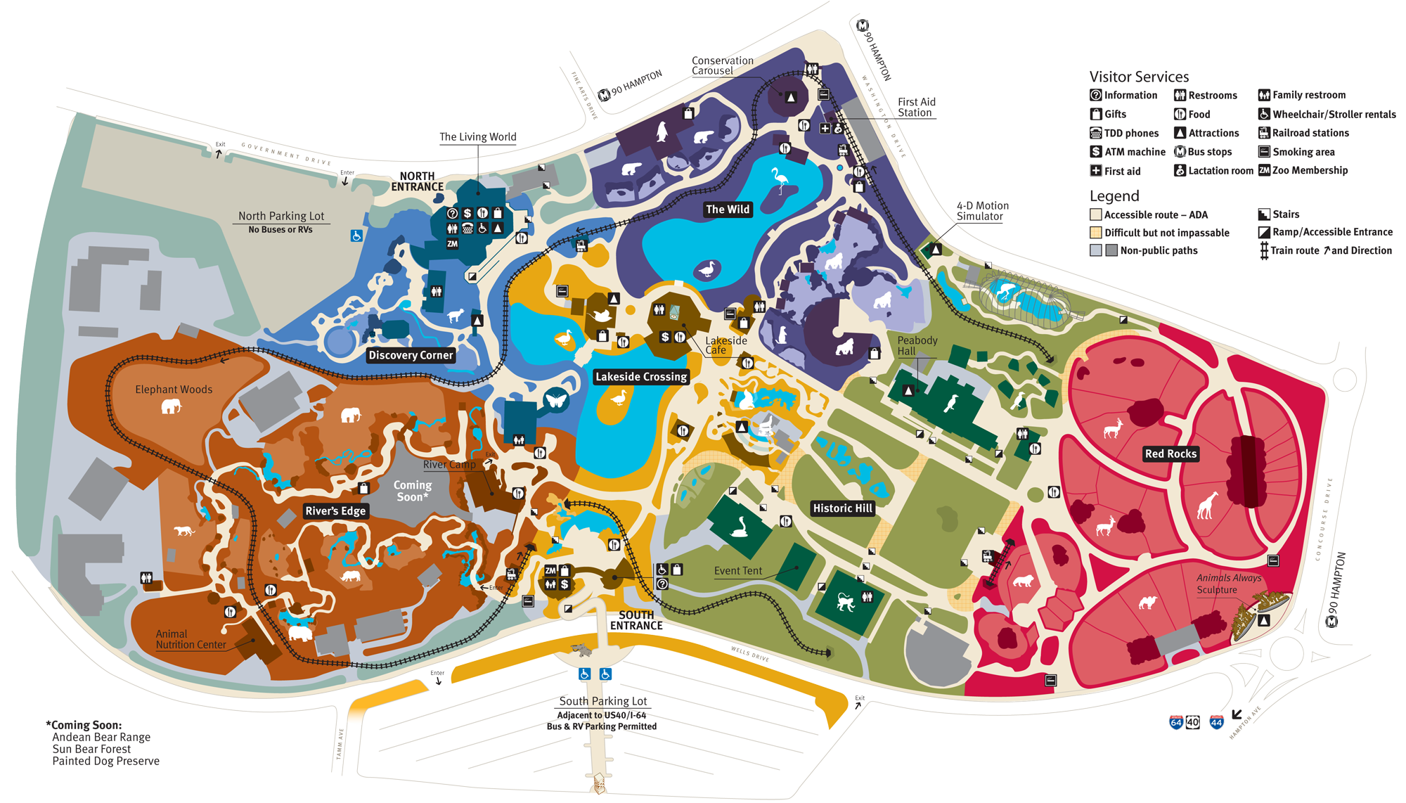 Map Of Saint Louis Zoo In Forest Park St Louis Zoo Zoo Map St Louis