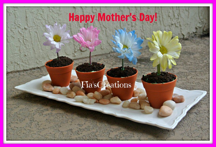 Mother's Day Flower Pot Cupcakes