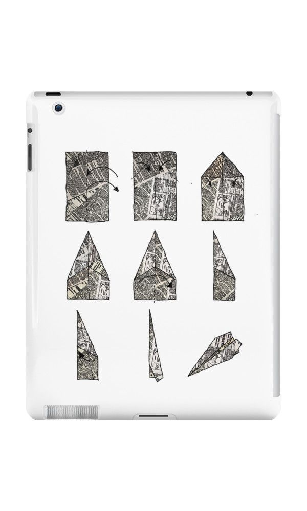 """""""paper aeroplane..... instructions"""" iPad Cases by danielle quinn 