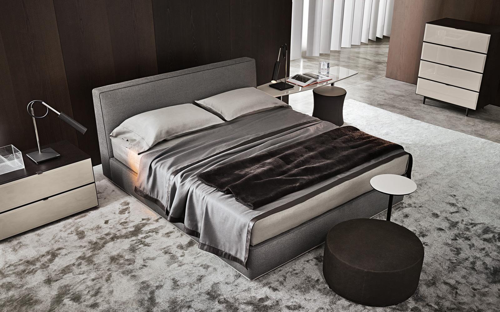 Minotti Powell Bett Design Rodolfo Dordoni Polsterbett Zeitgemass