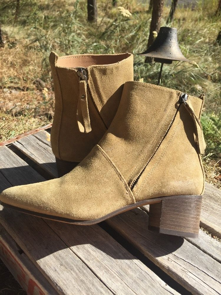 27fd49b2 $168 Vintage Olive Suede Lydia Ankle Boots by Banana Republic Happy ...