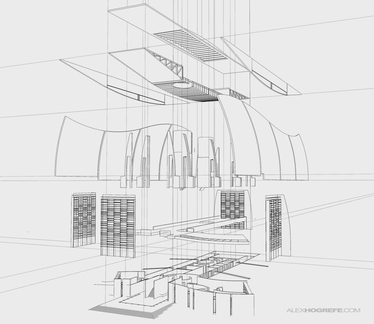 exploded_axon_sketchup_linework_alex_hogrefe